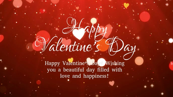 Happy Valentine's day Wishes Message Friends Facebook-omslagvideo (16:9) template