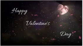 Happy valentine's day Pantalla Digital (16:9) template
