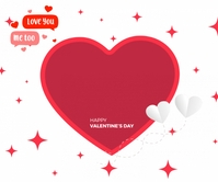 Happy valentine day 2021 Retângulo grande template