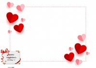 Happy valentine day Postcard template