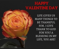 HAPPY VALENTINE DAY QUOTE TEMPLATE Rettangolo medio