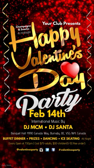 Happy Valentine S Day Party Template Postermywall