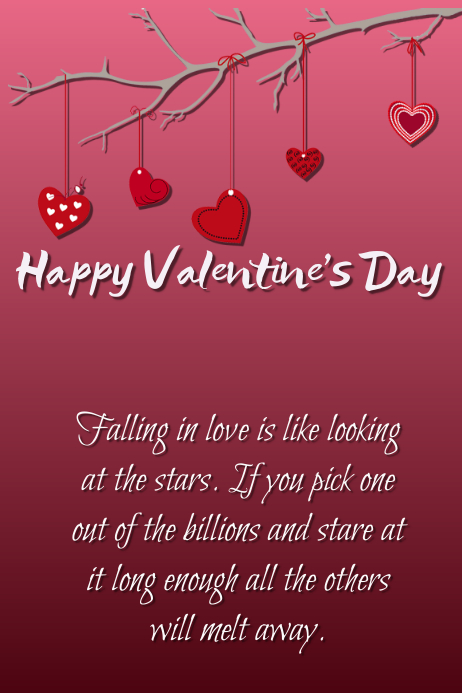 Happy Valentine S Day Template Postermywall