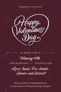 2 470 Customizable Design Templates For Valentines Dinner Flyer