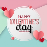 HAPPY VALENTINES DAY CARD AD TEMPLATE Instagram Post
