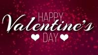 HAPPY VALENTINES DAY CARD AD TEMPLATE Ikhava Yevidiyo ye-Facebook (16:9)