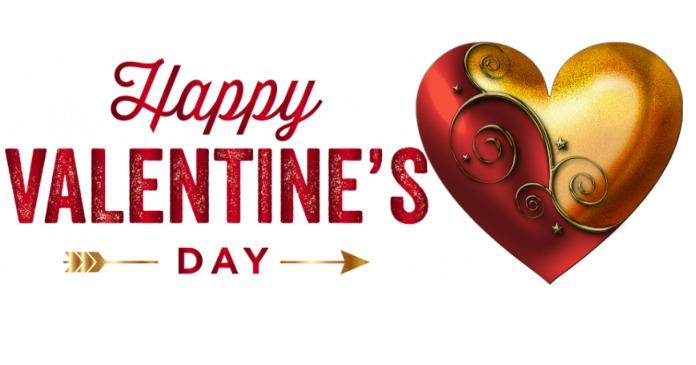 Happy Valentines Day delt Facebook-billede template