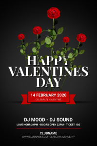 Happy Valentines Day Flyer