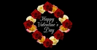 Happy Valentines Day Greeting card Roses Ad Facebook 共享图片 template