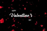 Happy valentines day video Banner 4 x 6 fod template