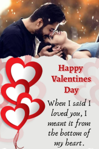 happy Valentines Plakat template