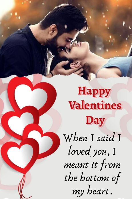 happy Valentines Poster template