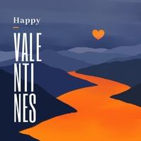 Happy Valentines Post template