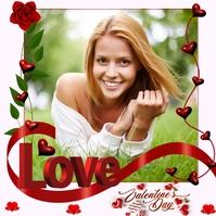 Happy Valentines Poster Template Quadrat (1:1)