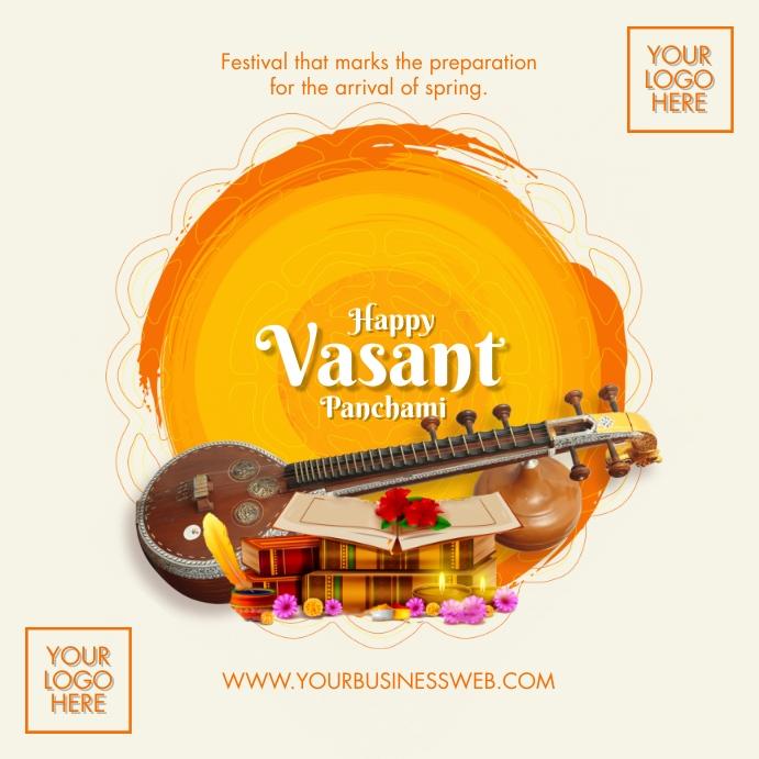 Happy Vasant Panchami 2021 Template Persegi (1:1)
