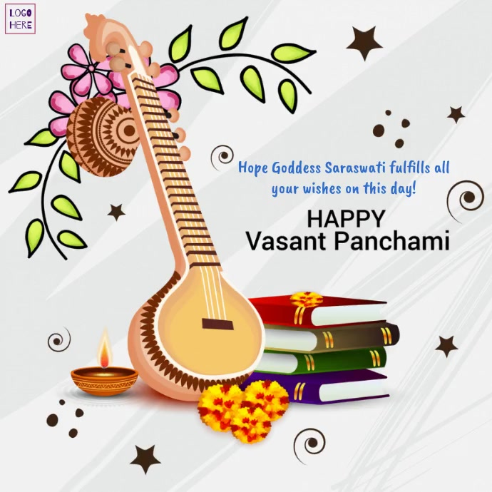 Happy Vasant Panchami wishes Template Instagram-opslag