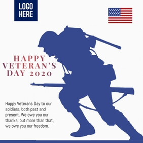 HAPPY VETERAN'S DAY POSTER template