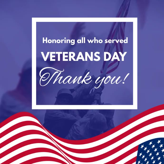 HAPPY VETERAN'S DAY VIDEO POSTER template