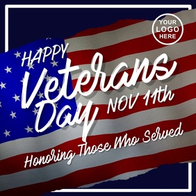 Happy Veterans Day โพสต์บน Instagram template