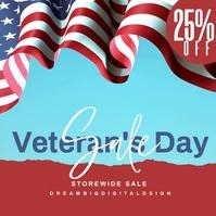 Veterans Day Sale Event Instagram Video template