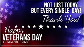 HAPPY VETERANS day VIDEO Flyer Template