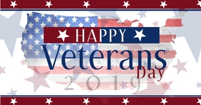 Happy Veterans Social Media Post Template Image partagée Facebook