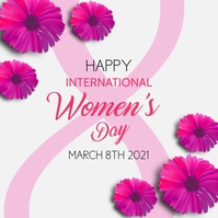 happy woman's day banner advertising Wpis na Instagrama template