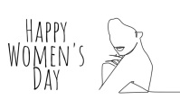 Happy Woman's Day One Line Video Template Pantalla Digital (16:9)