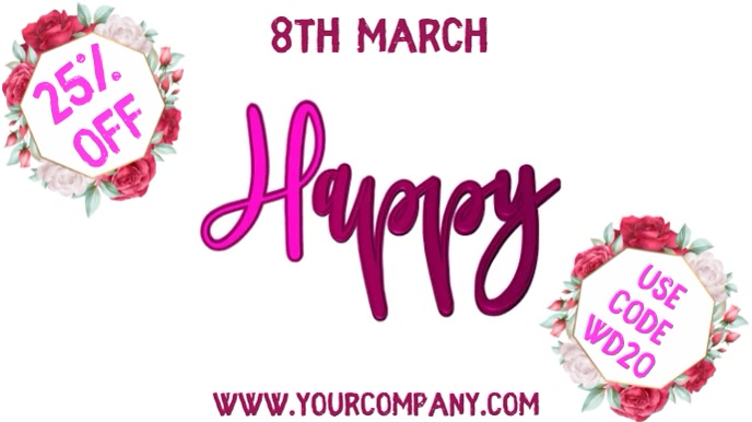 Happy Woman's Day Video Template