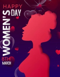 happy women's day,mother's day Folheto (US Letter) template