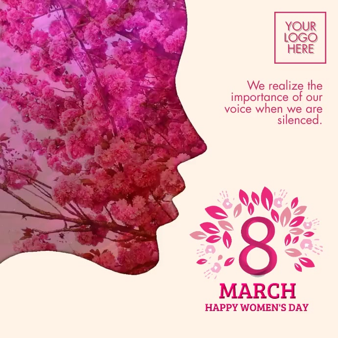 Happy Women's Day 2021 Template Instagram 帖子