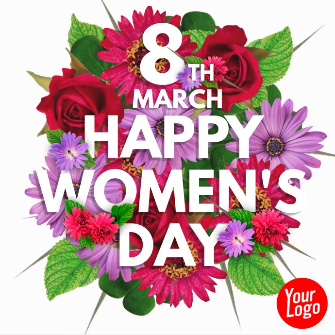 Happy Women's Day 8th March Flower Video