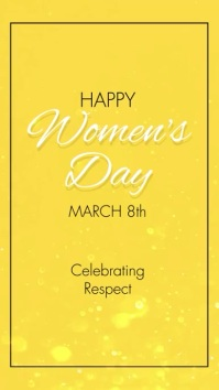 Happy Women's Day 8th march flowers video Ecrã digital (9:16) template