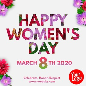 Happy Women's Day 8th March Video template