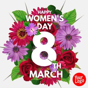 Happy Women's Day 8th March Video Instagram Plasing template