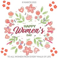 HAPPY WOMEN'S DAY CARD POST TEMPLATE