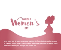 Happy Women's day concept Mellemstort rektangel template