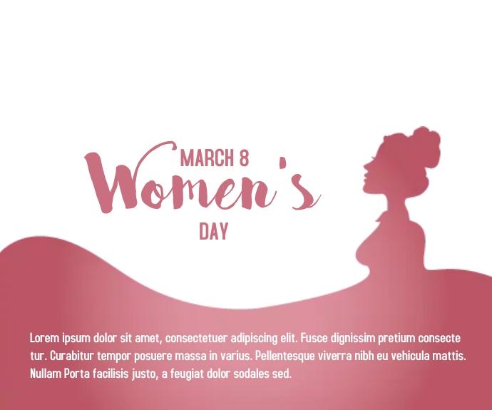 Happy Women's day concept Mittelgroßes Rechteck template