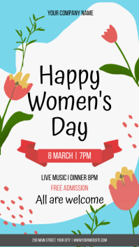 Happy Women's Day เรื่องราวบน Instagram template
