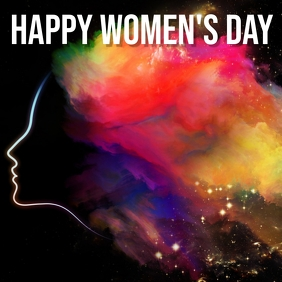happy women's day Instagram Plasing template