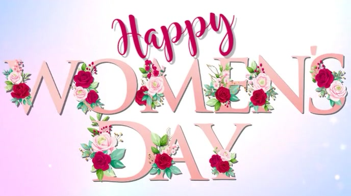 Happy Women's Day Digital Video Template