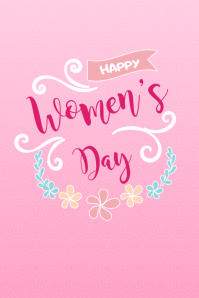 Happy Women's Day Floral