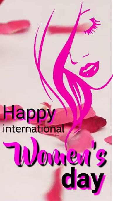 Happy women's day flyer template Digitalt display (9:16)