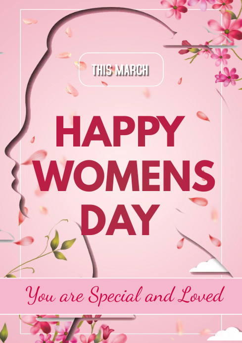 happy women's day flyers A3 template