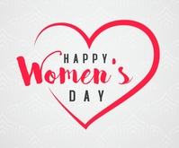 Happy women's day hearts greeting Rettangolo medio template