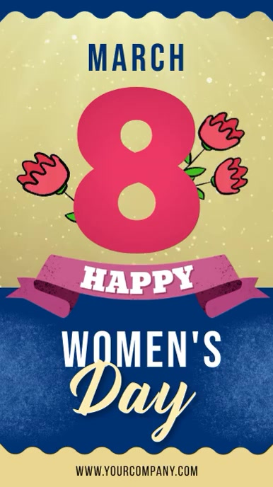 Happy Women's Day Instagram story video template