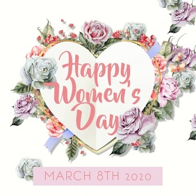 Happy Women's Day Instagram Video template