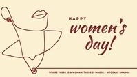 Happy Women's Day Line Art Blog Header Templa template
