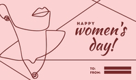 Happy Women's Day Line Art Templates Cartellino