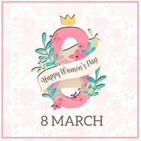 HAPPY women's DAY MESSAGE CARD Template